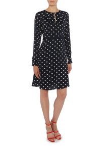 Noa Noa Long sleeve dress with smooth dots