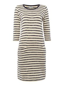 Noa Noa Striped jersey dress