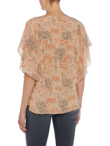 Noa Noa Silk blouse with ethnic print