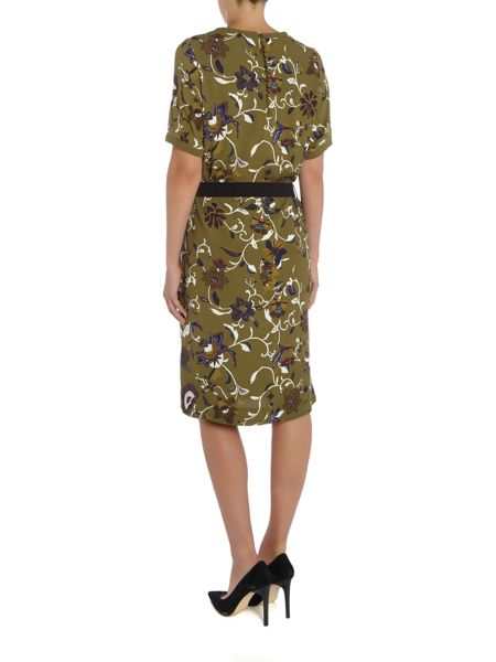 Noa Noa Dress with short sleeve and retro flower pattern
