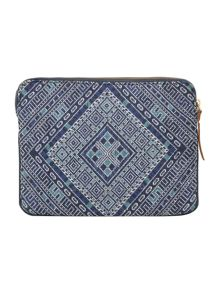 Noa Noa Bohemian clutch with ethnic print