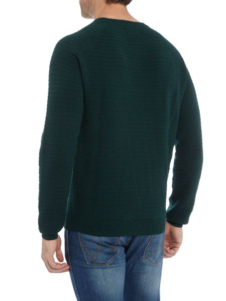 Farah Keighley textured stripe crew neck jumper