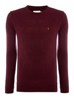 Rosecroft crew neck lambswool logo jumper