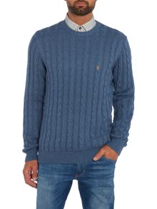 Farah Norfolk cable knit crew neck jumper
