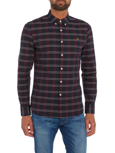Farah Lynton slim fit grid check shirt