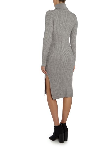 Vero Moda Long Sleeve Roll Neck Midi Dress