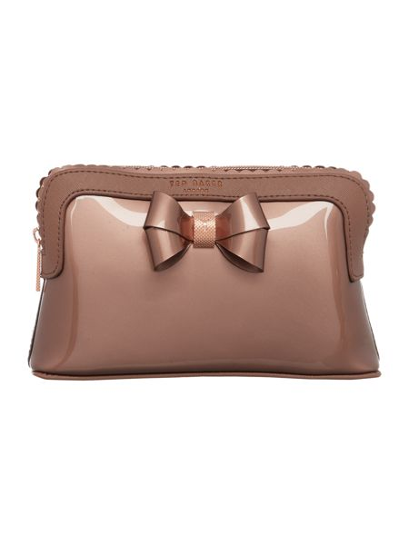 Ted Baker Elden rose gold scallop makeup bag
