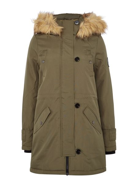 Vero Moda Long Sleeve Fur Hooded Parka