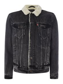 Levi's Type 3 fleece lined sherpa jacket