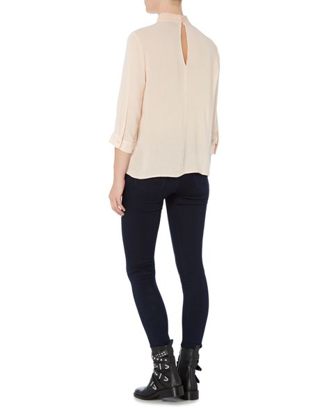 Vero Moda 3/4 Sleeve High Neck Top