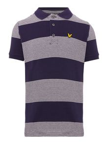 Lyle and Scott Boys Striped Logo Polo Shirt