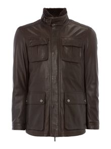 Hugo Boss Gembu 4 pocket lamb leather jacket