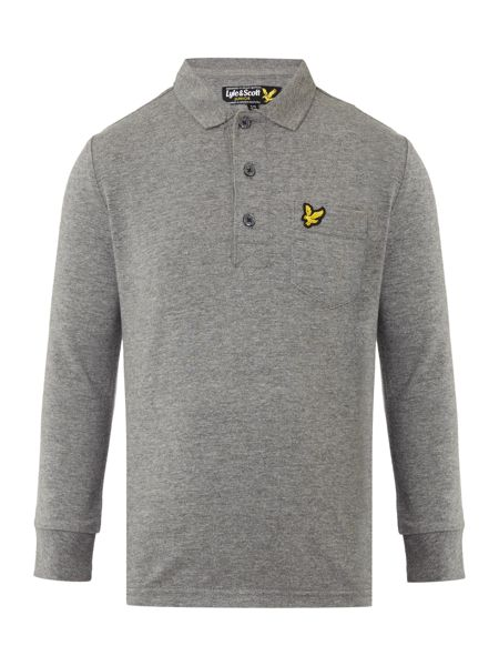 Lyle and Scott Boys Jersey Marl Polo Shirt