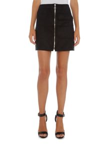 Vero Moda Faux Suede Zip Mini Skirt