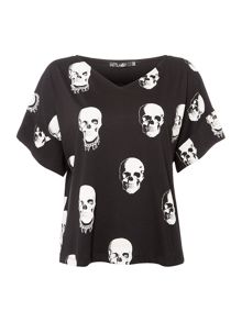 Replay Skull Print T-Shirt