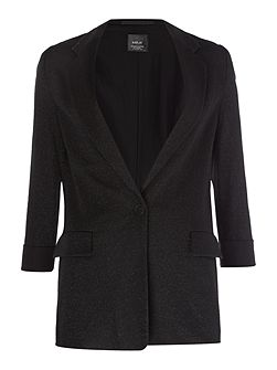 Wool And Jersey Jacket