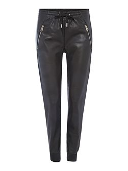 Faux-Leather Jogger