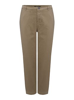 Gabardine Trousers Relaxed-Fit