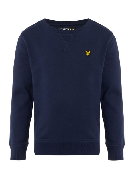 Lyle and Scott Boys Crew Neck Logo Sweater