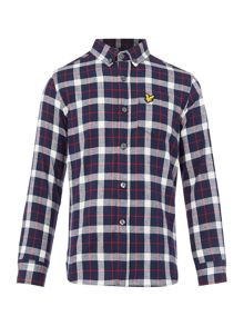 Lyle and Scott Boys Brushed Checked Shirt