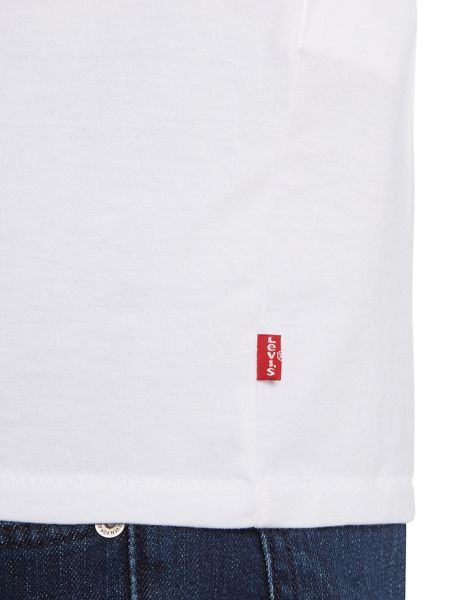 Levi's Regular fit stripe chest printed logo t shirt