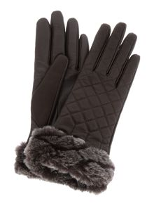 UGG Quilted leather smart glove