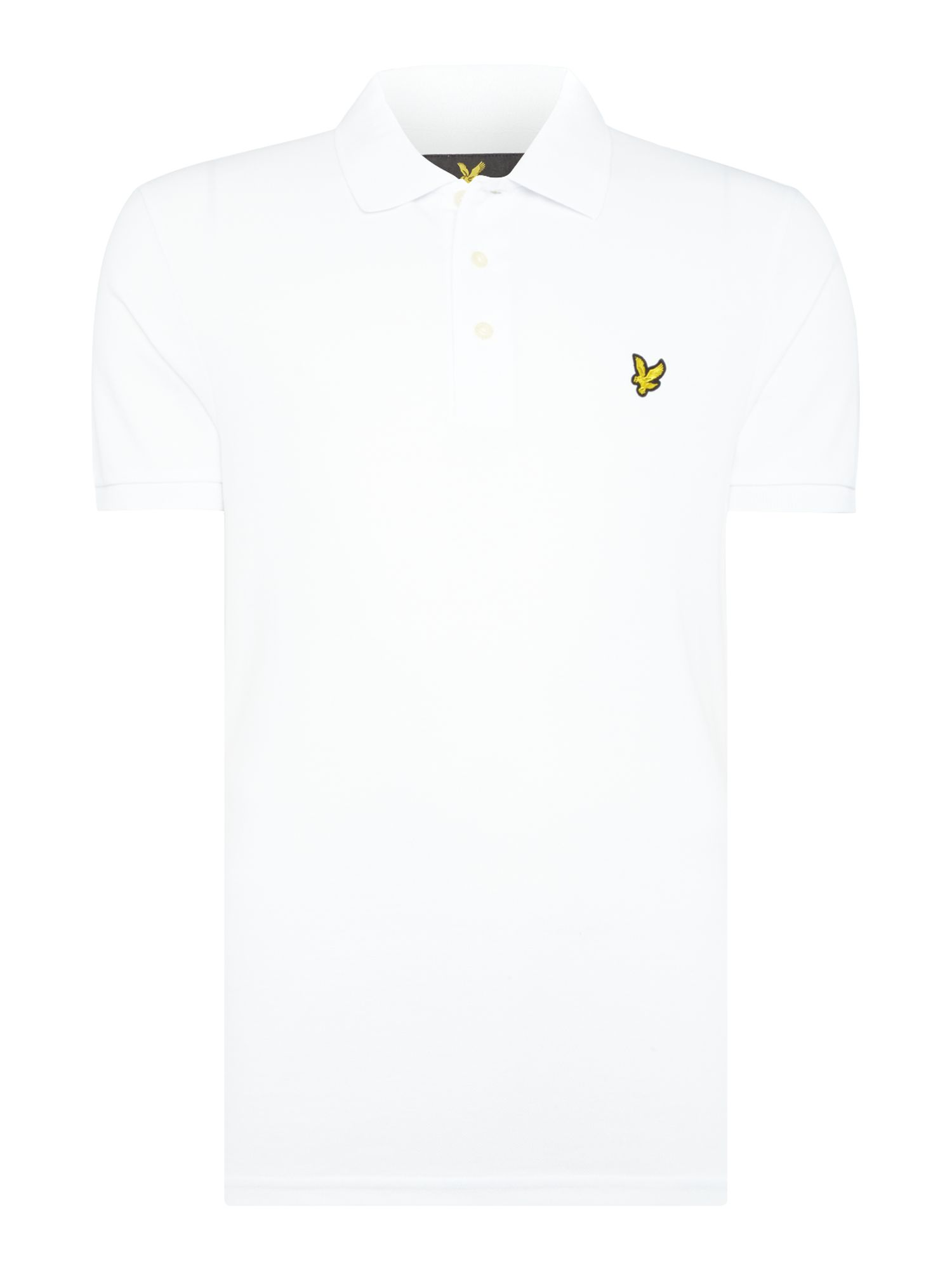 Men's Lyle and Scott Short Sleeve Plain Pique Polo, White