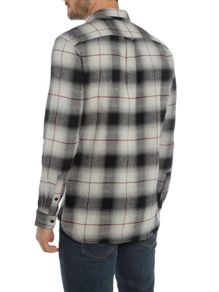 Levi's Worker slim fit large check shirt