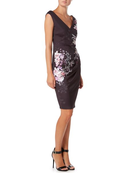 Jessica Wright Sleeveless Floral Bodycon Dress
