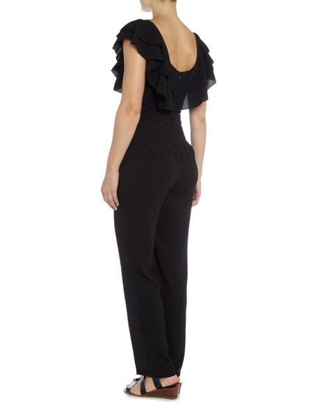 Jessica Wright Off Shoulder Wide Leg Jumpsuit