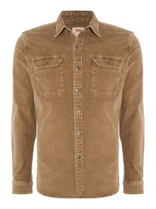 Levi's Worker slim fit washed corduroy shirt