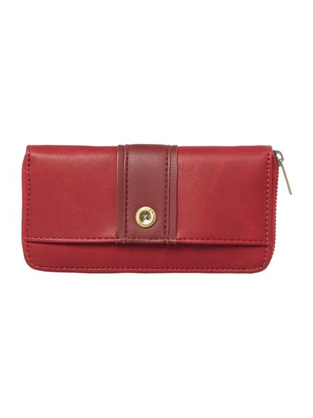 Ollie & Nic Lou red large ziparound purse