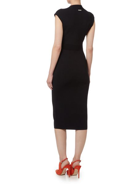 Michael Kors V-Neck Midi Dress