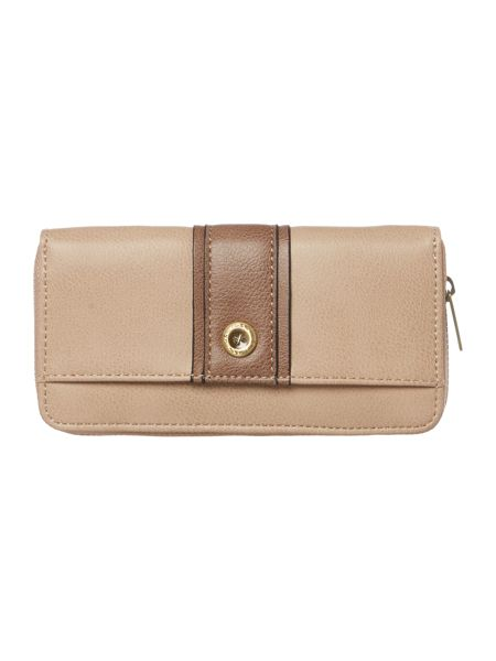 Ollie & Nic Lou neutral large ziparound purse