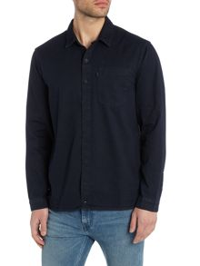 Levi's Line 8 regular fit 1 pocket inky blue rinse shirt