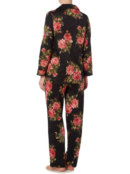 Lauren Ralph Lauren Clasis notch collar floral pyjama set