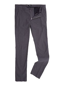 Rice 3w slim fit micro textured trousers