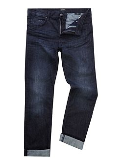 Albany straight fit dark wash jeans