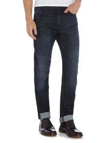 Hugo Boss Albany straight fit dark wash jeans