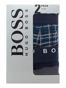 Hugo Boss 2 Pack Cyclist Check And Plain Trunk