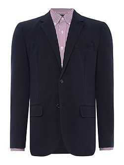 Cotton-Blend Interlock-Jersey Blazer