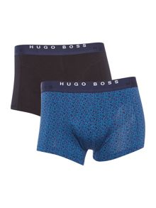 Hugo Boss 2 Pack Cyclist Plain And Print Trunk