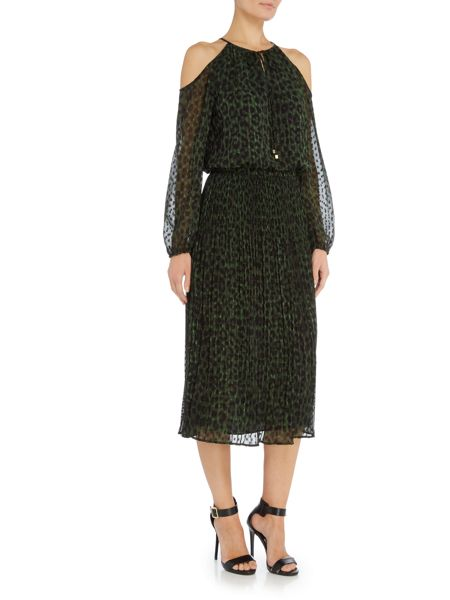 Michael Kors Long Sleeved Cheetah Printed Dress
