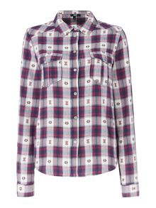 Paige Mya check shirt