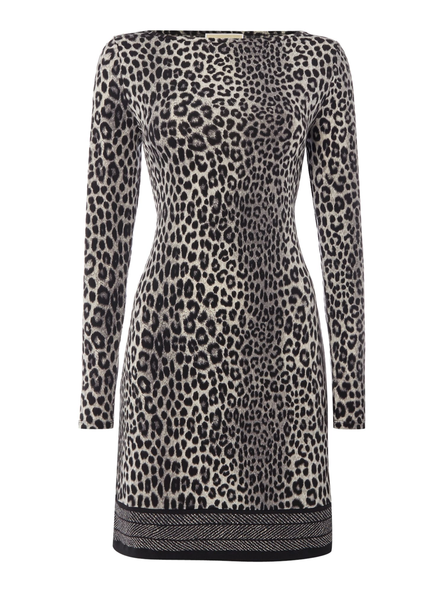 Michael Kors Panther Border Dress, Black