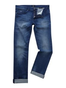Hugo Boss Delaware 3-1 slim fit mid wash jeans
