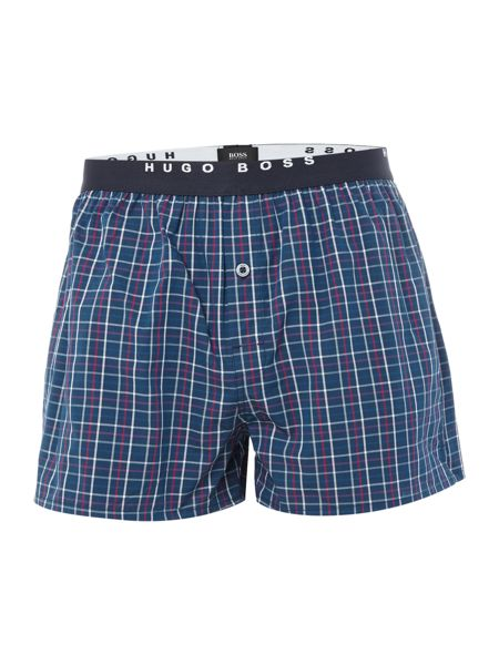 Hugo Boss 2 Pack Check And Stripe Boxer