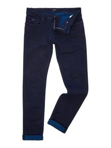 Hugo Boss Charleston 3 slim tapered fit dark wash jeans