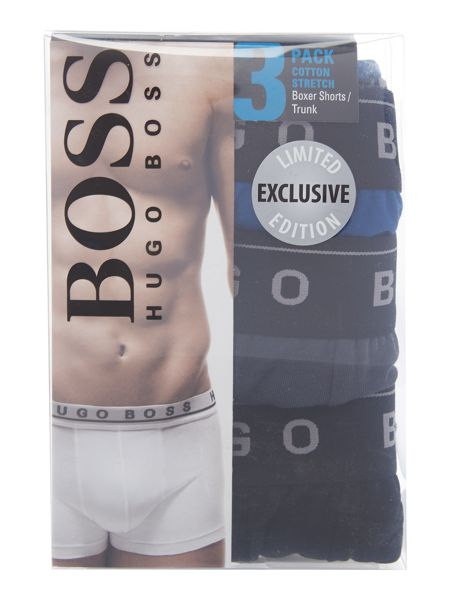 Hugo Boss 3 Pack Trunk With Contrast Waistband