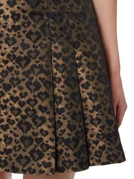 Michael Kors Stitch Detail Pleated Dress